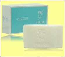 alum soap kecil besar sabun untuk kulit berjerawat ruam gatal-gatal felisa kosmetik