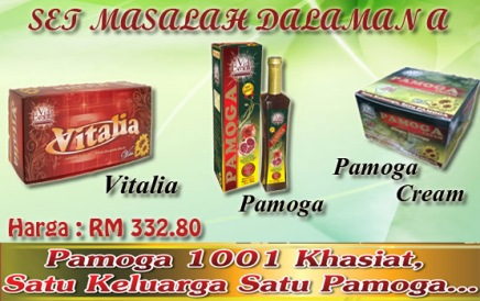set masalah dalaman vida pamoga cream vitalia beauty