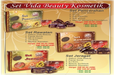 set vida beauty kosmetik