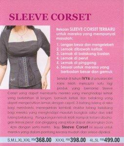 sleeve corset ivy6 kecilkan lengan