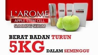 l'arome apple stem cell slimming serum berat badan turun 5 kilo dalam masa 1 minggu