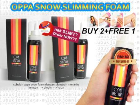 opa snow slimming foam original kelantan