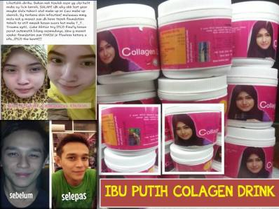 testimoni putihkan kulit ibu putih collagen drink